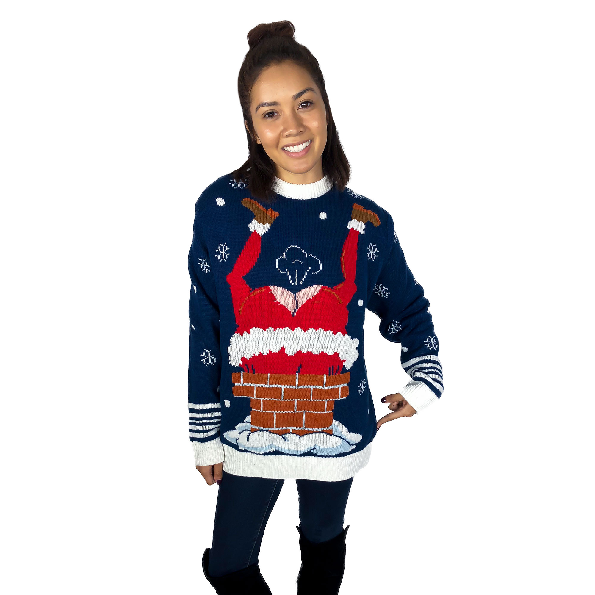 gassy santa sound button ugly christmas sweater - Redneck Christmas Sweaters