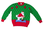 Kids, Ugly Christmas Sweater: Toilet Santa