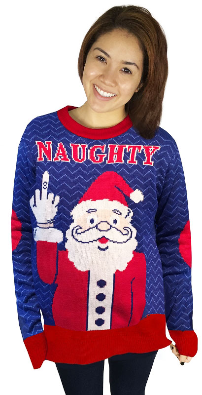 naughty christmas sweaters