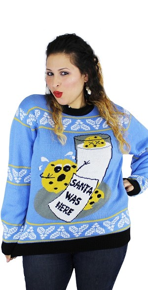 Ugly Christmas Sweater: Cookie Hungry Santa