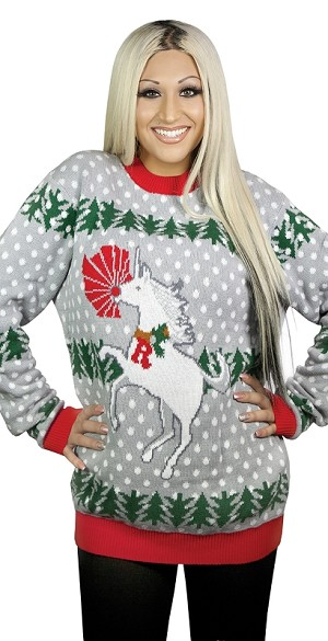 Ugly Christmas Sweater: Unicorn Rudolph